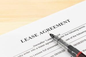 Image of a lease which is part of a rent-back agreement